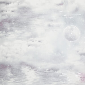 Arthouse Watery Skies Clouds Smooth Glitter Grey Wallpaper