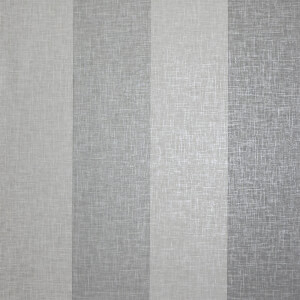 Arthouse Linen Stripe Textured Metallic Grey Wallpaper