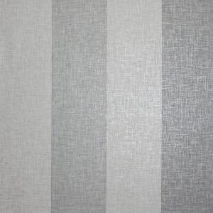 Arthouse Linen Stripe Textured Metallic Grey Wallpaper