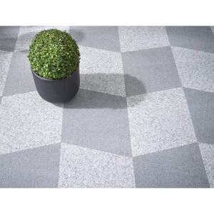 Granite Diamond Paving 450 x 450mm Dark Grey (Full Pack)