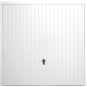 Vertical 7' 6  x 7' Framed Steel Garage Door White