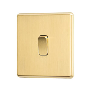 Arlec Fusion 10A 1Gang 2Way Gold Single light switch