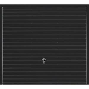 Horizontal 7' x 6' 6  Frameless Steel Garage Door Black