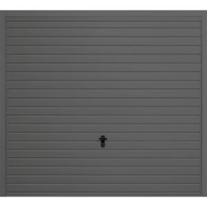 Horizontal 7' 6  x 6' 6  Framed Steel Garage Door Anthracite Grey