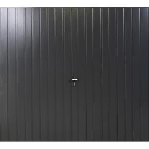 Vertical 7' 6  x 6' 6  Framed Steel Garage Door Anthracite Grey