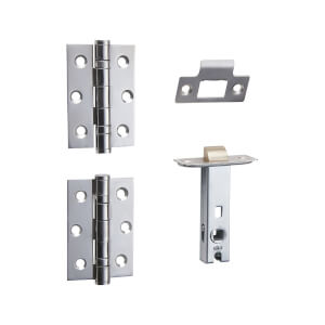 Sandleford 75mm Premium Door Latch Pack - Polished Chrome