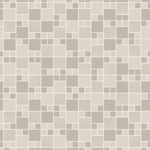 Holden Decor Trivola Tile Embossed Metallic Glitter Taupe Wallpaper
