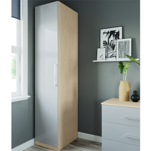 Modular Bedroom Slab Single Wardrobe - Grey