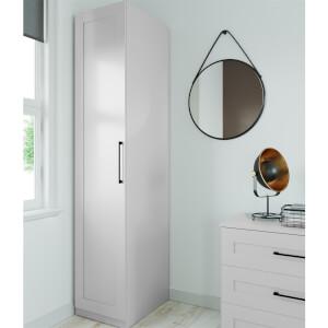 Modular Bedroom Shaker Single Wardrobe - Grey