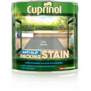 Cuprinol Anti-Slip Decking Stain - City Stone - 2.5L