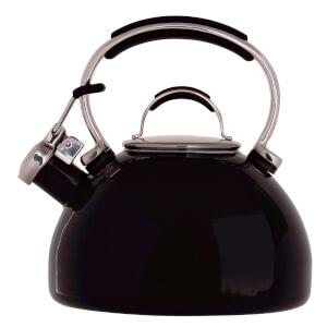 Prestige Enamel 2 Litre Stove-Top Whistling Kettle - Black