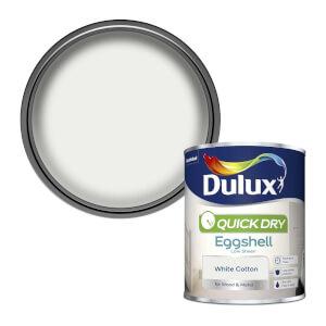 Dulux Quick Dry Eggshell Paint - White Cotton - 750ml