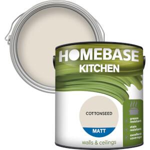 Homebase Kitchen Matt Paint - Cottonseed 2.5L