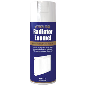 Rust-Oleum Satin Radiator Enamel Paint - White - 400ml