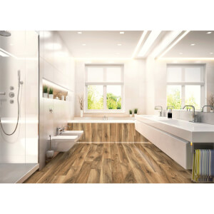 EGGER HOME Aqua+ Waterproof Brown Perganti Walnut 8mm Laminate Flooring