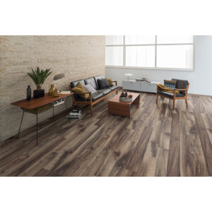 EGGER HOME Grey Perganti Walnut 12mm Laminate Flooring