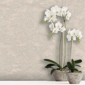 Belgravia Decor Tilly Beige Damask Wallpaper