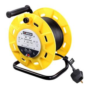 Masterplug 4 Socket Cable Reel 40m Yellow/Black