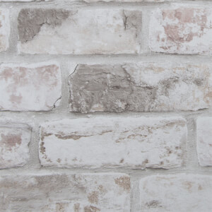 Fresco Distressed Brick Wallpaper - Pastel
