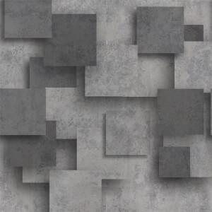 Grandeco Life Digital Mural Chess 3d - Grey