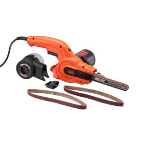 BLACK+DECKER Powerfile 350W Corded Belt Sander with Sanding Sheets (KA900E-GB)