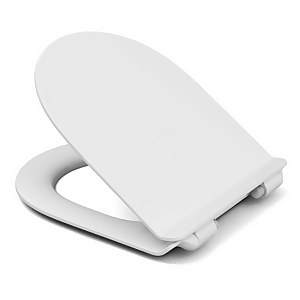 Cedo D-Shape Slim Plastic Toilet Seat - White