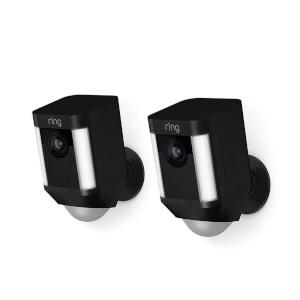 Ring Battery Spotlight Cam - 2 Pack - Black