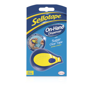 Sellotape Super Clear Tape On-Hand Dispenser
