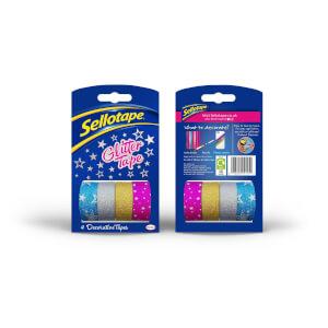 Sellotape Glitter Tape x4 Rolls