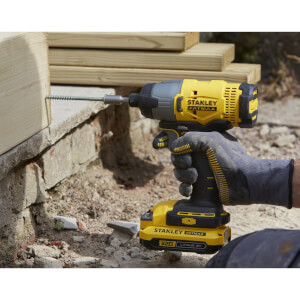STANLEY FATMAX V20 18V Cordless Impact Driver with Kit Box (SFMCF800D1K-GB)