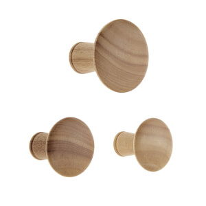 Wood Dots Hook Set - Oak Effect