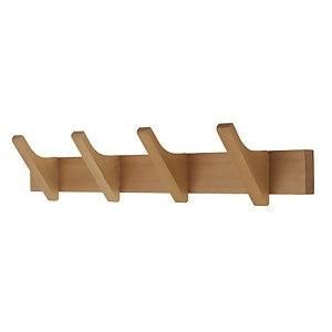 4 Hooks wooden Strip Rail