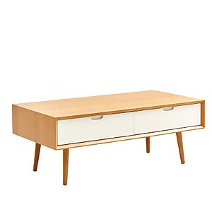 Nordic Rectangular Coffee Table with Drawers