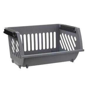 Multi Functional Stacking Basket - Grey