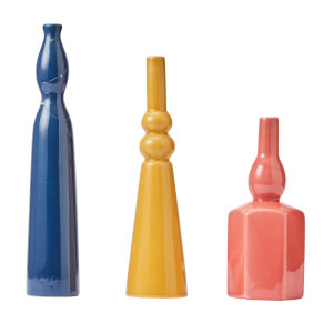 Objet Coloured Vases - Set of 3