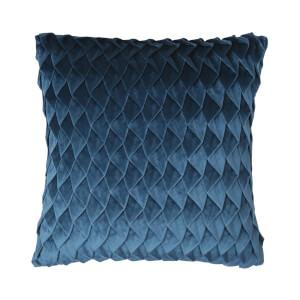 Velvet Pintuck Cushion - Teal