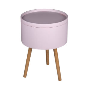 Storage Tray Side Table - Blush
