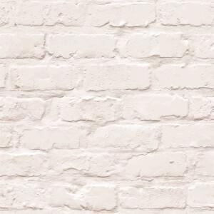Grandeco White Brick Wallpaper