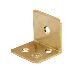 Corner Brace Brass Plated - 25mm - Pack Of 4