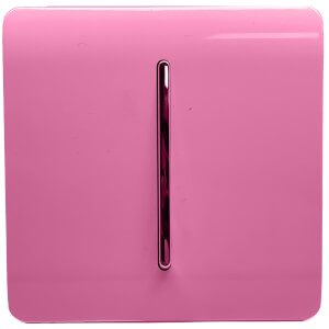 Trendi Switch 1 Gang 2 Way 10Amp Light Switch in Pink