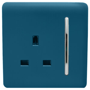 Trendi Switch 1 Gang 13Amp Switched Socket Midnight Blue