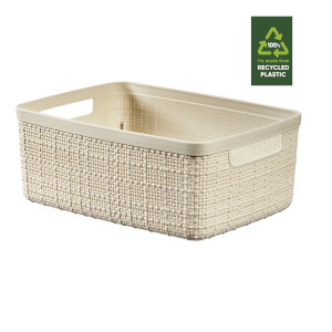 Jute Small Basket - 5L - Off White