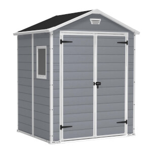 Keter Manor Outdoor Garden Shed  6x5ft Grey