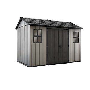 Keter Oakland Outdoor Garden Storage Shed 11x7.5ft Grey