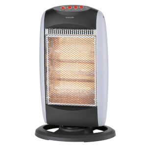 Halogen Tower Heater Grey 1200W