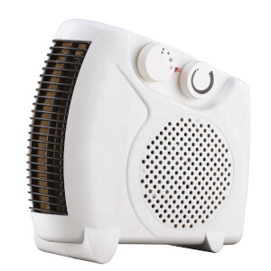 Flat Fan Heater White 2000W