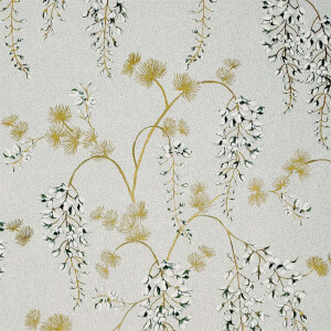Arthouse Wisteria Floral Neutral Gold Wallpaper