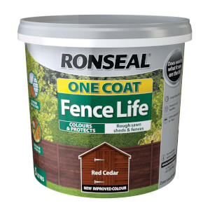 Ronseal One Coat Fence Life Red Cedar - 5L