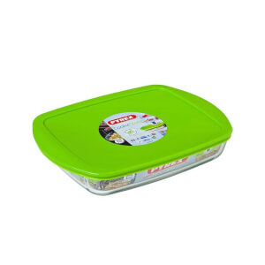 Pyrex Cook & Store Rectagular Dish with Green Lid
