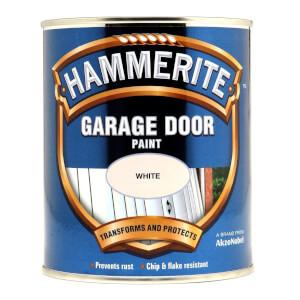 Hammerite White - Garage Door Enamel Exterior Paint - 750ml